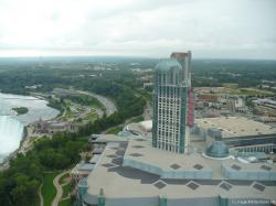 Emabassy Suites and Casino buildings in Canada near Horseshoe Falls as seen from Skylon Tower.jpg