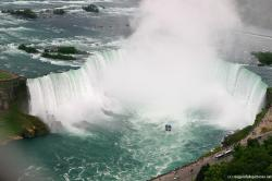 Horseshoe Niagara Falls Photograph with Maid of the Mist taken from Skylon Tower.jpg