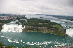 Niagara Falls photo with Goat Island as viewed from Skylon Tower.jpg