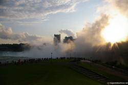 Niagara Falls Terrapin Point sees the sun behind the mist.jpg
