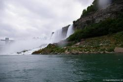 Photo of Niagara Falls Bridal Veil Falls and American Falls from Maid of the Mist.jpg