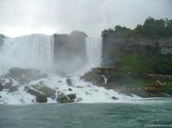 Pic of Niagara Falls American Falls and Bridal Veil Falls and Cave of the Winds taken from Maid of the Mist.jpg