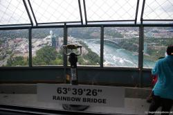 Rainbow Bridge Niagara Falls seen from Skylon Tower.jpg