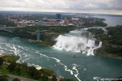 American Niagara Falls and Bridal Veil Falls as viewed from the Skylon Tower in Canada.jpg